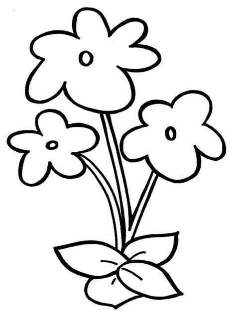 Easy Drawings For Children Simple Flower Drawing For Kids How To Draw A Simple Flower For Color Simple Drawing For Kid