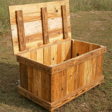 wooden trunk rusted nail reclaimed wood hope chest pallet wood cedar