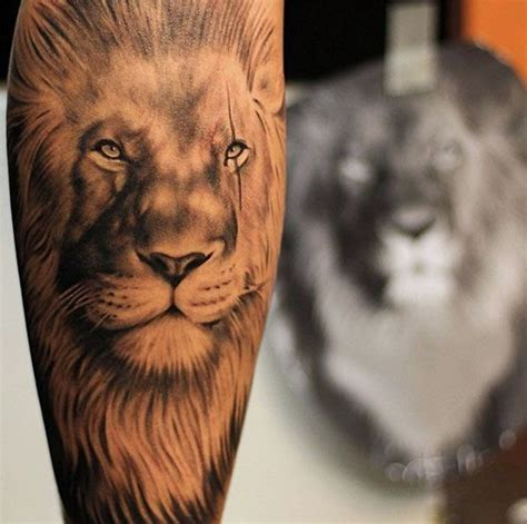 animal tattoo for strength lion tattoo