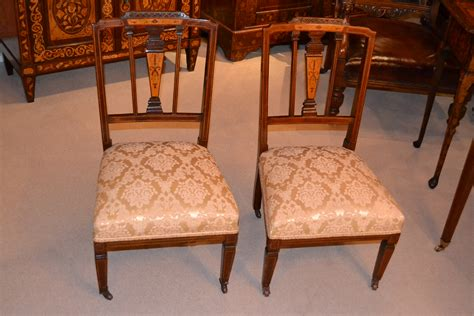 pretty satinwood inlaid bedroom chair antique chairs hemswell antique centres antique pair of edwardian inlaid nursing chairs c 1900