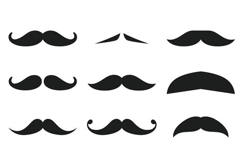 clipart collection free moustache collection free vector stock