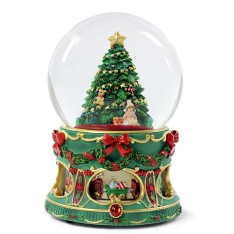 san francisco music box christmas tree water globe with