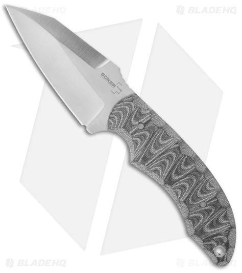 boker trigonaut boker plus mosier trigonaut fixed blade knife 3 25 quot satin