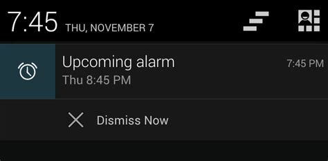 notification bar android android 4 4 clock app allows dismissing upcoming alarms from the notification bar