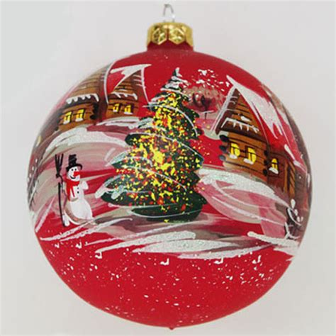 painted hand christmas trees painted glass ornaments invitation template