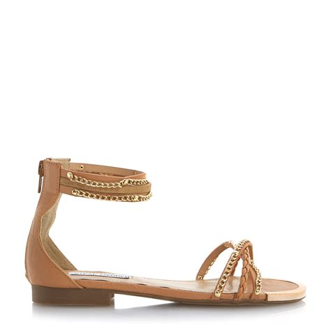 steve madden brown sandals steve madden lawal flat chain cuff sandals in brown