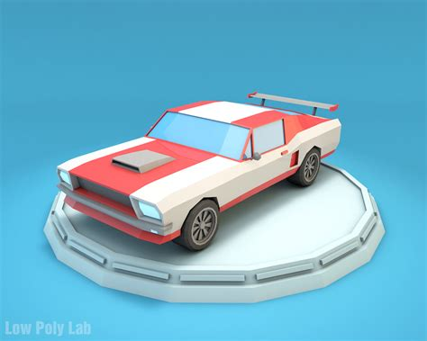 3d Home Design Software Free No Download by Low Poly Racing Car Mustang Download Game Ready 3d Model