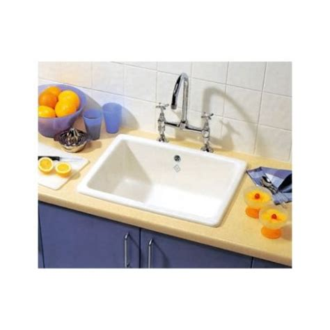 Inset Ceramic Kitchen Sinks Shaws Of Darwen Inset 595 X 460mm Ceramic Sink 1 Single Topmount Scin595 163 295 Www