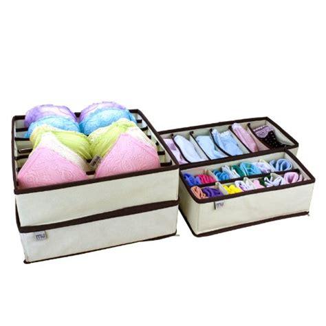 underwear organizer 4 set closet organizer storge box drawer beige underwear