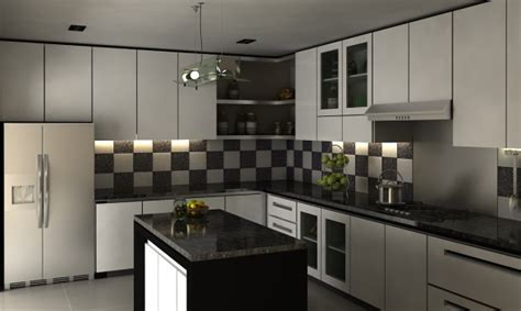 kitchen settings design cahaya interior desain contoh desain dapur