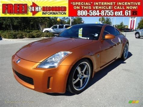 burnt orange nissan altima 2003 nissan 350z touring coupe in le mans sunset 005742