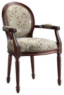 fabric accent chair in light green floral 28382 stein world