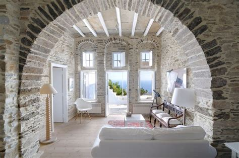 luxury greek villas tinos villa  rent  mykonos