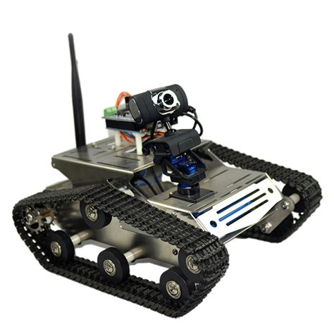 robot camara us smart wifi diy crawler rc robot tank with 1 3mp hd