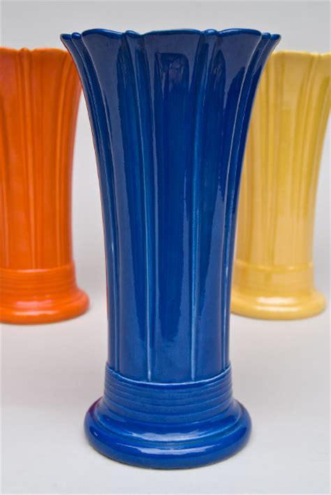 Fiestaware Vase by Vintage 10 Inch Original Cobalt Fiestaware Pottery