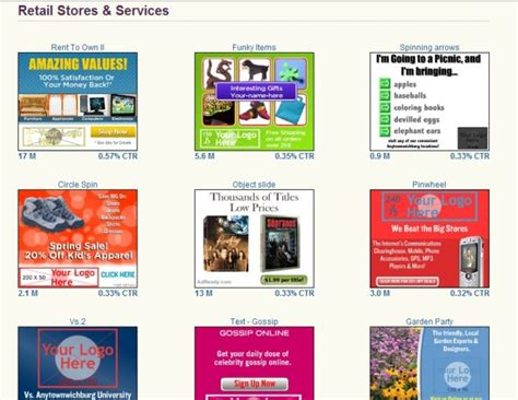 advertising design templates yahoo s new display advertising see how it works ppc 174