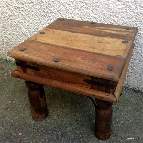 small rustic side table rustic pine table small side table