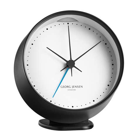 hk clock  alarm black white  cm georg jensen