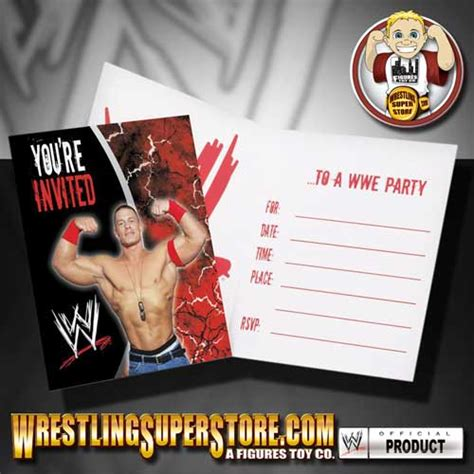 printable john cena birthday cards wwe john cena invitations party invitations ideas