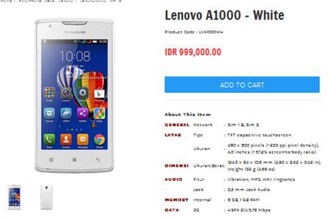 Spesifikasi Tablet Lenovo A1000 G ponsel lenovo di bawah 1 juta terbaru lenovo a1000