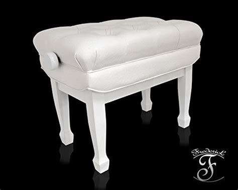 piano bench white frederick concert series adjustable piano bench white polish jim laabs music store