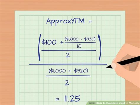calculator yield to maturity how to calculate yield to maturity 9 steps with pictures
