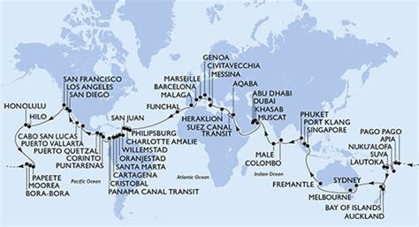 msc 119 day cruise cruise line begins promotion for their epic quot world cruise