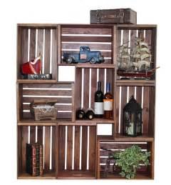 Bookcase Made From Crates Muebles Reciclados Hechos Con Cajas De Frutas