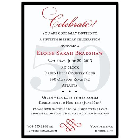50th birthday program template classic 50th birthday celebrate invitations paperstyle