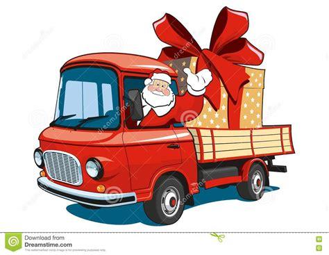 Santa Clipart Truck Pencil And In Color Santa Clipart Truck