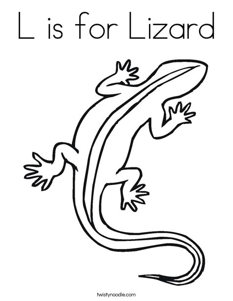L Is For Lizard Coloring Page Twisty Noodle A Is For Coloring Pages