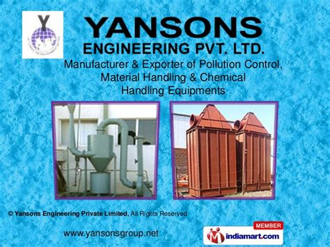 air pollution control equipments  yansons engineering private limit