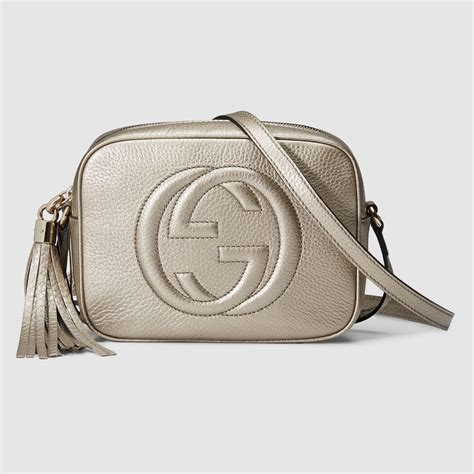 gucci soho bag gucci soho metallic leather disco bag in gold metallic
