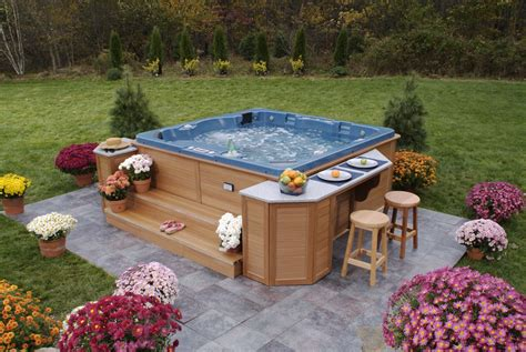 Backyard Spa Landscaping Ideas Backyard Tub Ideas For Installation And Landscaping Archinspire