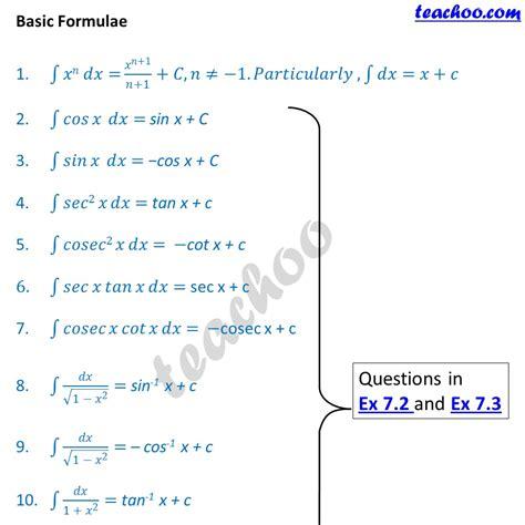 Basic76 Htm the gallery for gt integration formulas list