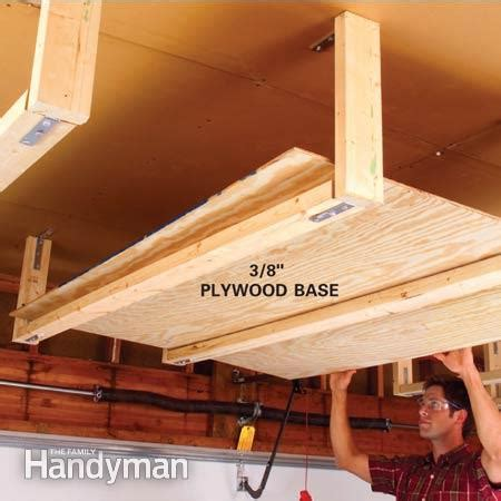 Garage Shelving Bracket Ideas Easy Garage Storage Solutions The Family Handyman