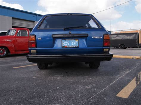 1983 Toyota Corolla Station Wagon 1983 Toyota Corolla Dlx Wagon 5 Door 1 8l For Sale In
