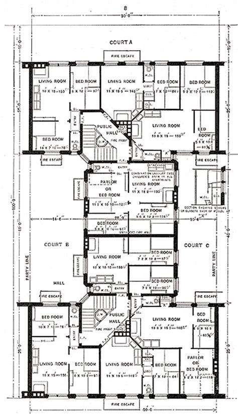 mott cross section illustration of tenement design evolution the first one