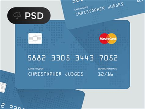 Credit Card Template Psd Free Flat Credit Card Psd Titanui