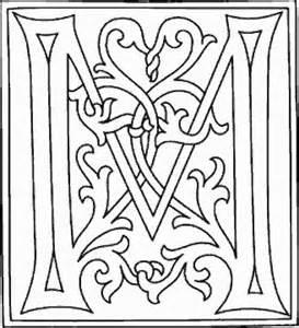 Lettre De Dérogation école Coloriage M Alphabets Et Monogrammes Alphabet