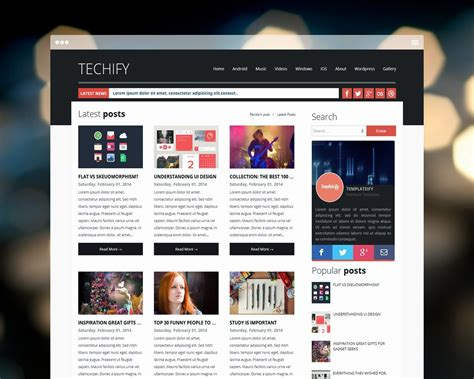 6 new magazine style free best blogger templates 2015