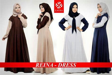 Dress Katun Ima Toyobo gaya muslim modern baju muslim terbaru reina dress by layra