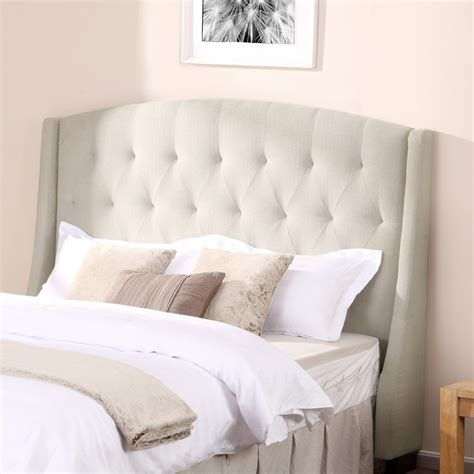 Bed Tufted Headboard by Inspiring Small Space Bedroom Decors With Wingback