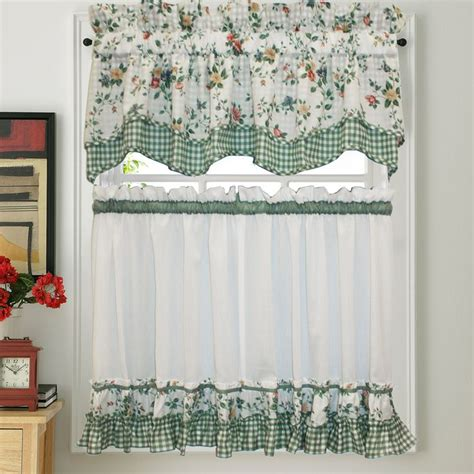 Green Kitchen Curtains Designs 17 Best Images About Gingham Tier Gingham Tier Curtains And Floral