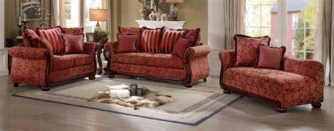 printed sofa sets homelegance grande isle sofa set red printed fabric