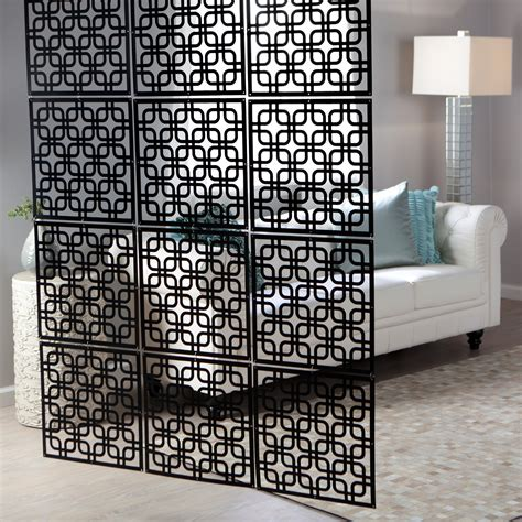 decorative partitions interwoven decorative panel set of 4 16w x 16h in