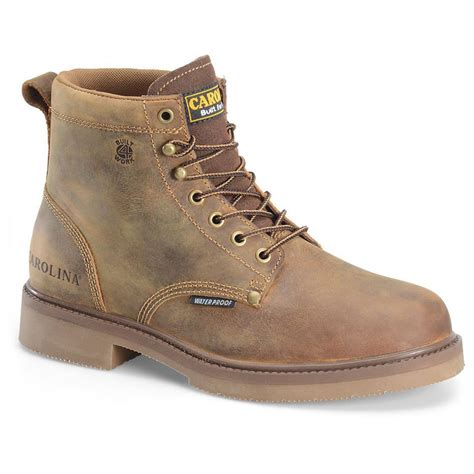 s carolina 6 quot smooth sole waterproof work boots