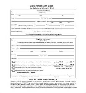 Permit To Work Template by Work Permit Forms Template Images