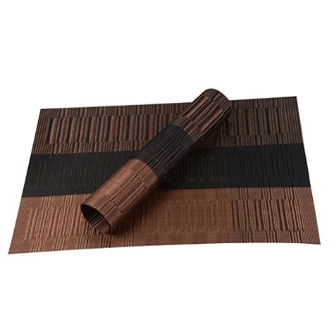 rectangle pvc dining room placemats place mats for table top finel eco friendly colorful rectangle bamboo pvc