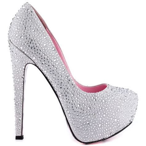 4 inches high heels silver glitter heels 4 inch is heel